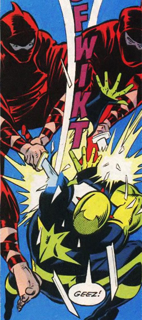 New Warriors (Marvel Comics) (Team Profile #2) Nova attacked by yakuza ninja