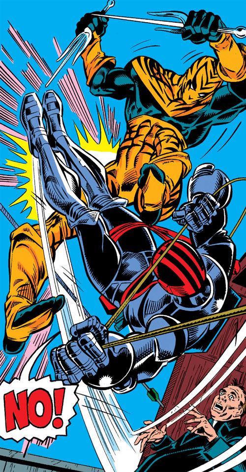 New Warriors - Marvel Comics - Earliest - Bengal vs. Night Thrasher