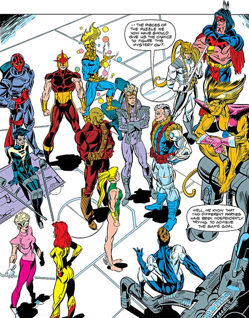 New Warriors and X-Force (Marvel Comics) during the early 1990s