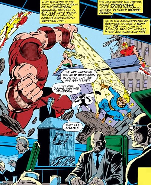 New Warriors - Marvel Comics- Juggernaut - Genetech