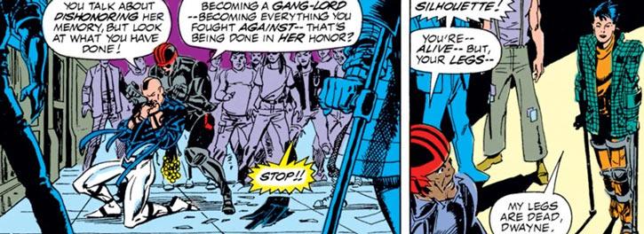 New Warriors - Marvel Comics - Team - Silhouette, Night Thrasher, Midnight's Fire, Poison Memories
