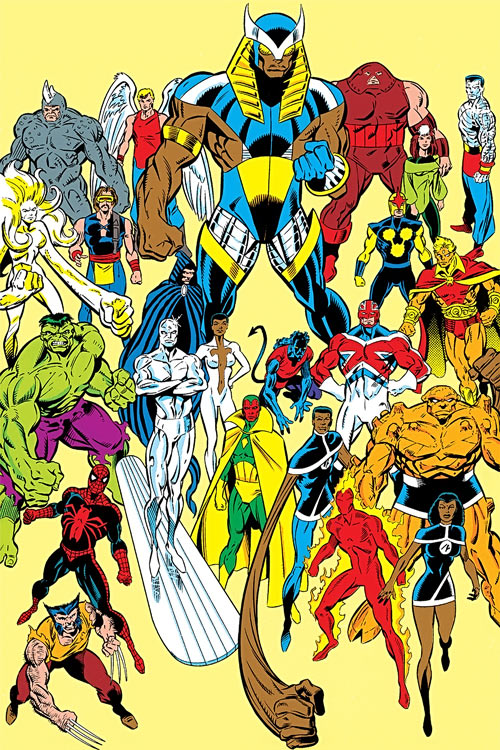 Marvel super-heroes in the Sphinx's reality