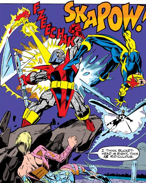 New Warriors - Marvel Comics - Earliest - Terrax's revenge