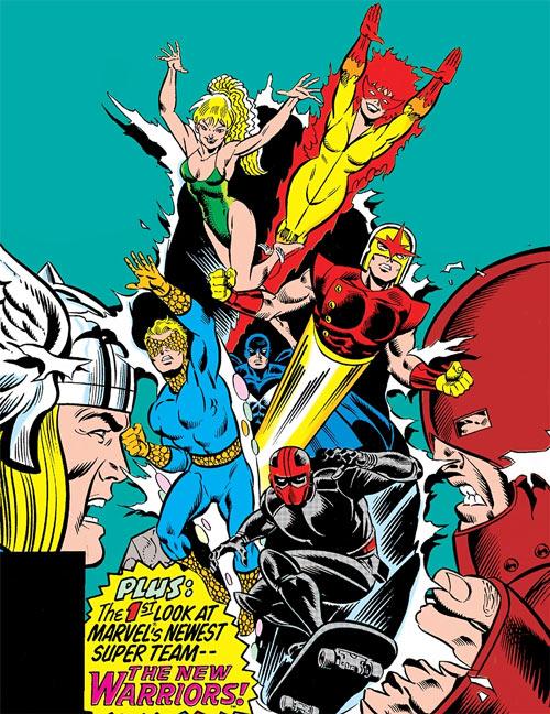 New Warriors - Marvel Comics - Earliest - Thor vs. Juggernaut