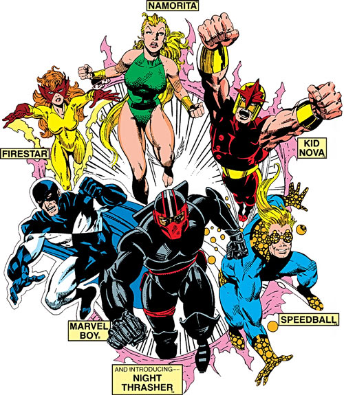 New Warriors - Marvel Comics - Team profile - Year one