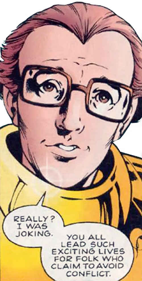 Newton Destine of Clan Destine (Marvel Comics) face closeup with some surprise