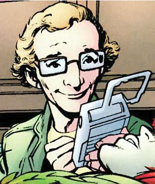 Newton Destine of Clan Destine (Marvel Comics) using a tablet