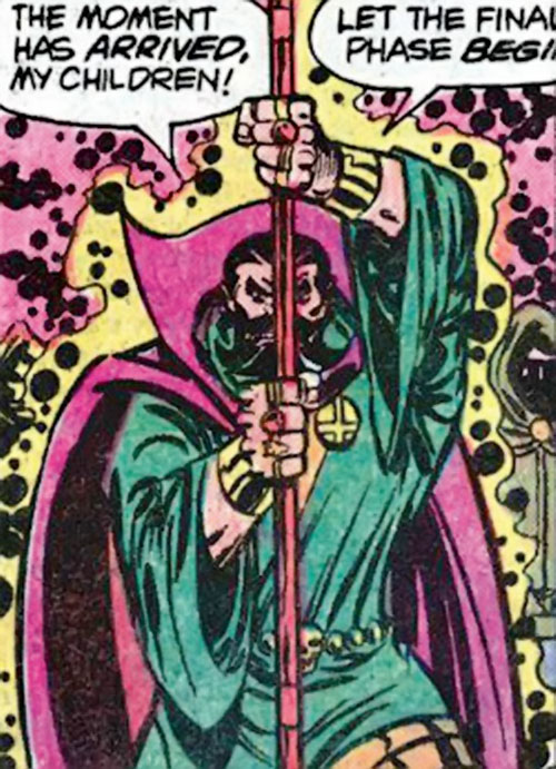 Nicholas Scratch (Marvel Comics) with the Satan Staff