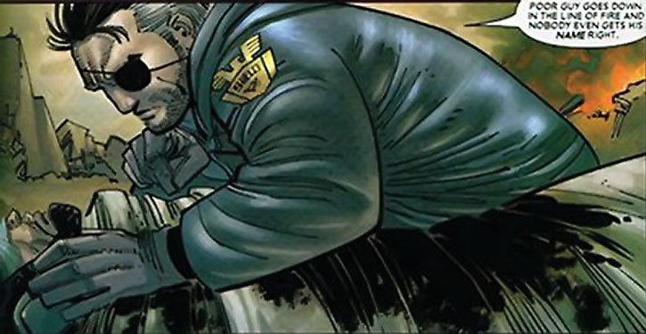 Nick Fury in a SHIELD parka