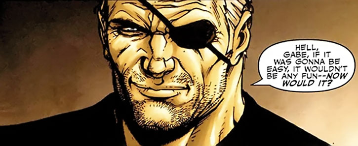 Nick Fury smiling
