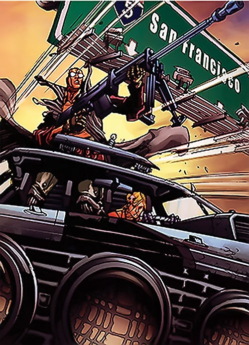 Dead Run comic (Boom studio) cover detail