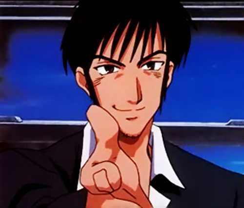 Nicolas Wolfwood (Trigun) offering his hand