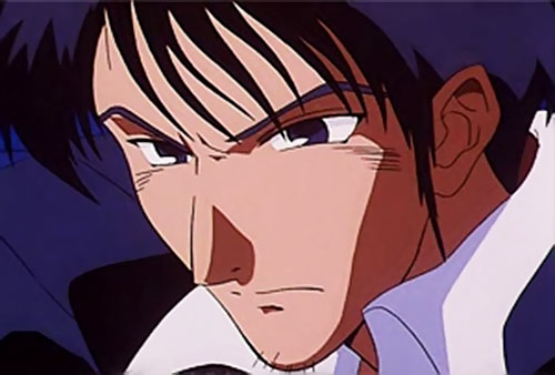 Nicolas Wolfwood (Trigun) is annoyed