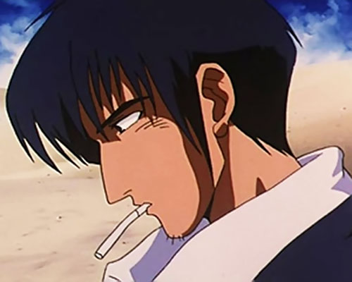 Nicolas Wolfwood (Trigun) side view with cigarette