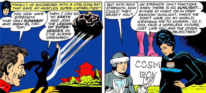 Night Girl (Lydda Jath) explains why the Legion of Super-Heroes rejected her