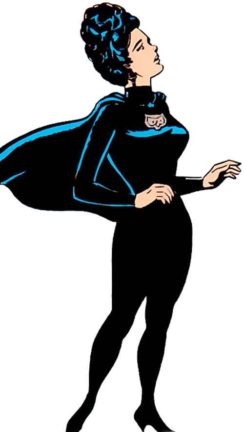 Night Girl of the Legion of Super-Heroes (DC Comics Silver Age) surprised looking up