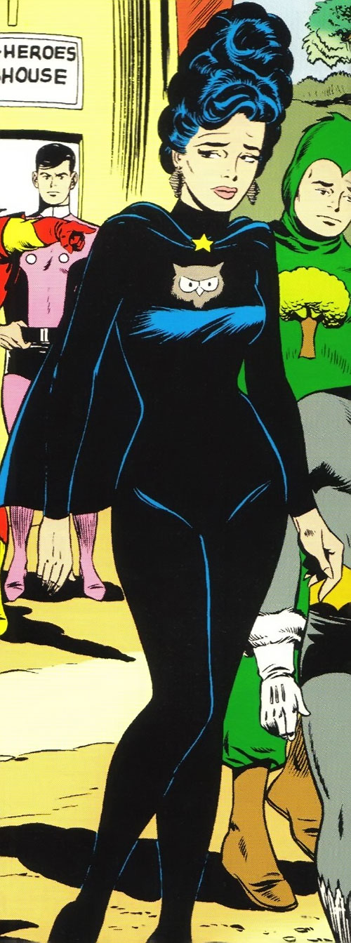 Night Girl of the Legion of Super-Heroes (DC Comics Silver Age) and the Subs expelled from the clubhouse