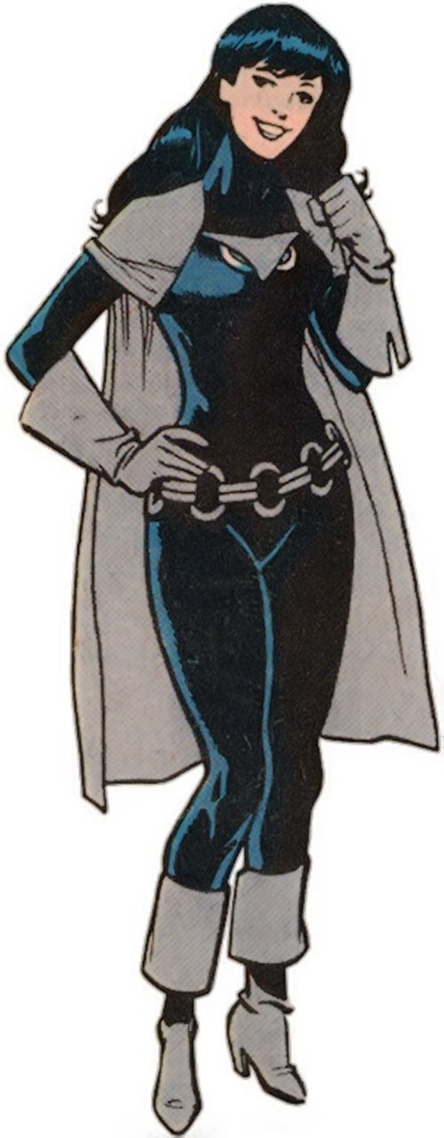 Night Girl of the Legion of Super Heroes (pre-boot DC Comics) during the 1980s