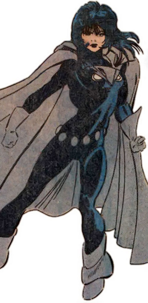 Night Girl of the Legion of Super Heroes (pre-boot DC Comics) in a dramatic pose