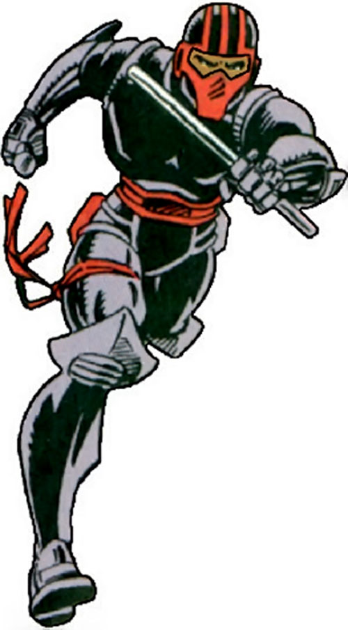 Night Thrasher (Marvel Comics) running in with a stick