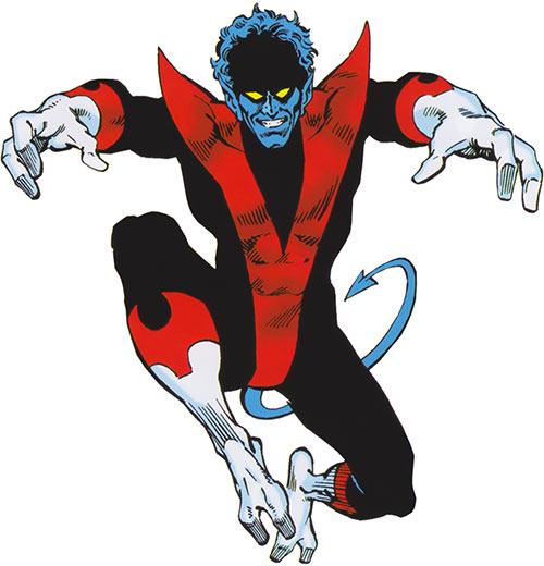 Nightcrawler of the X-Men (Marvel Comics) 1980s Deluxe handbook cover
