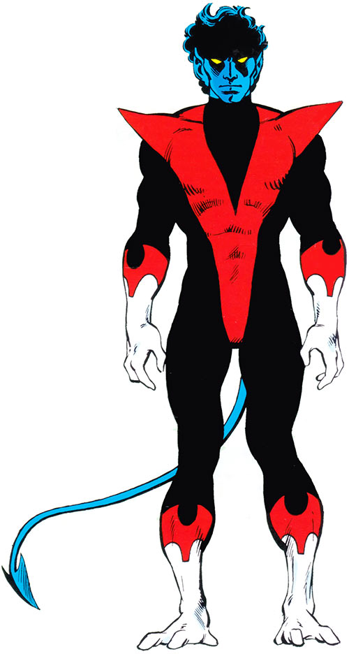 Nightcrawler of the X-Men during the 1980s