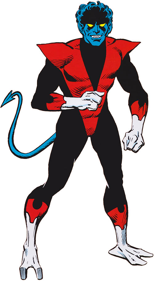 Nightcrawler of the X-Men (Marvel Comics) in the 1985 official handbook