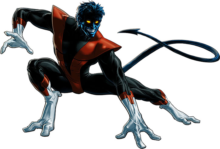 Nightcrawler (Kurt Wagner) posing with his classic costume