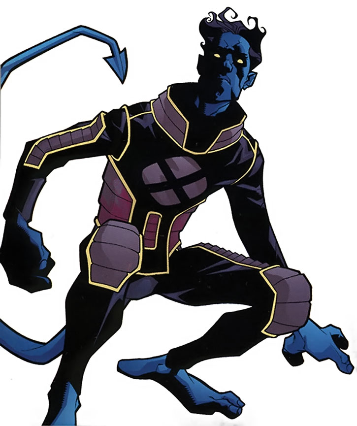 Nightcrawler (Kurt Wagner) in his gray and black uniform