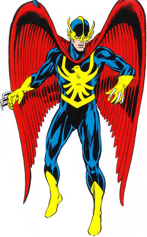 Nighthawk of the Defenders (Marvel Comics) in the 1983 handbook