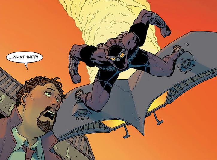 Nighthawk (Marvel Comics) (Raymond Kane, David Walker take) goblin glider