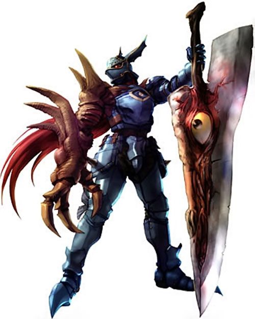 Nightmare (Soul Calibur) with a giant cleaver-like Night Terror