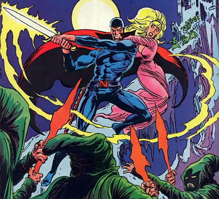 Nightmaster (Jim Rook) and a damsel in distress