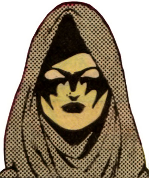 Nightwind of the Legion of Super-Heroes (DC Comics) face closeup with hood