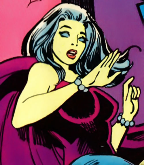 Nightwind of the Legion of Super-Heroes (DC Comics) in her purple costume