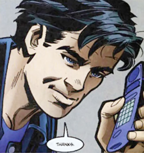 Nightwing on the phone