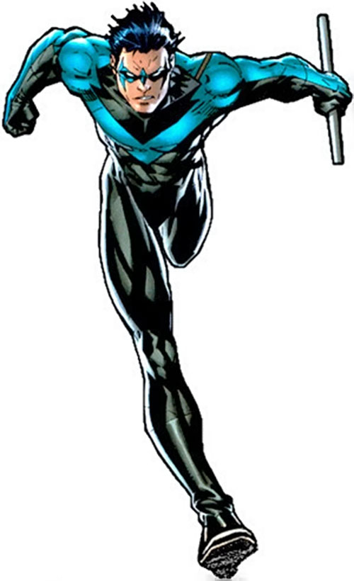 Nightwing by Jim Lee over a white background