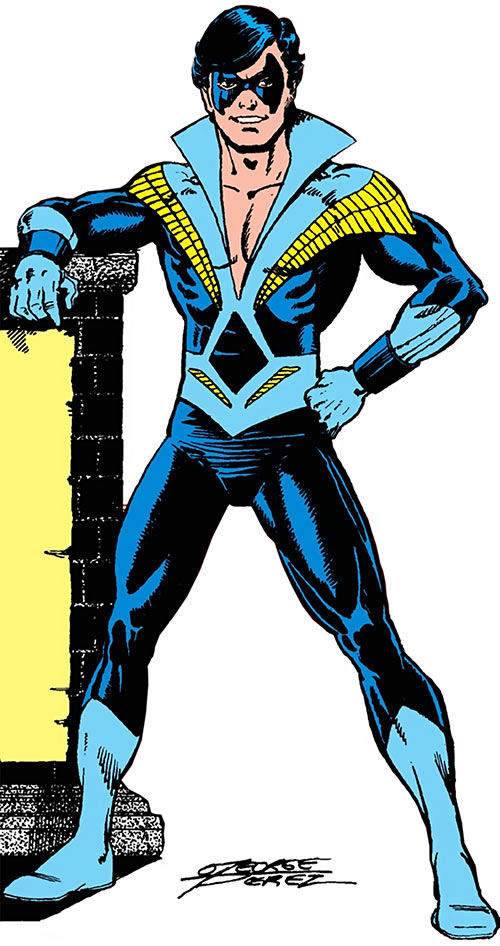 Nightwing (Dick Grayson) (DC Comics) from the 1988 Who's Who Update, by George Pérez