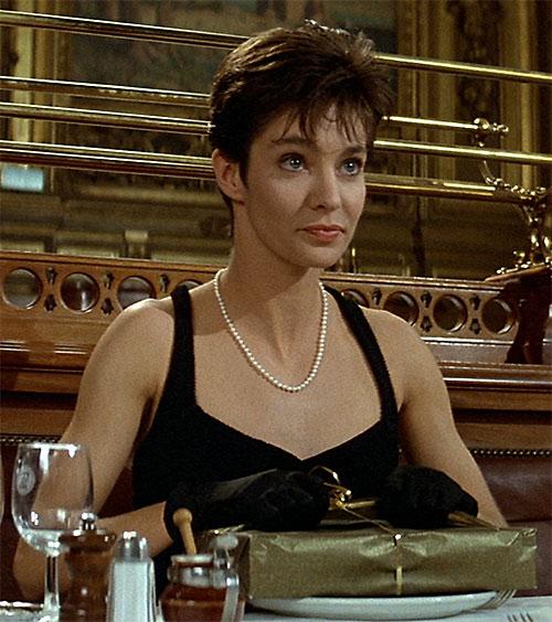 Nikita (Anne Parillaud) in a little black dress