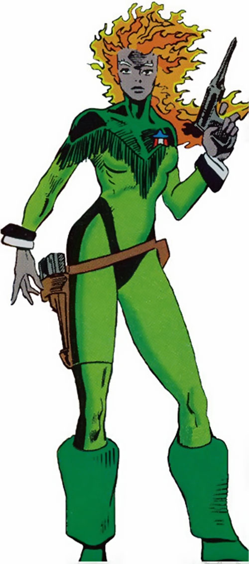 Nikki (Guardians of the Galaxy) (Marvel Comics) with the fringed uniform