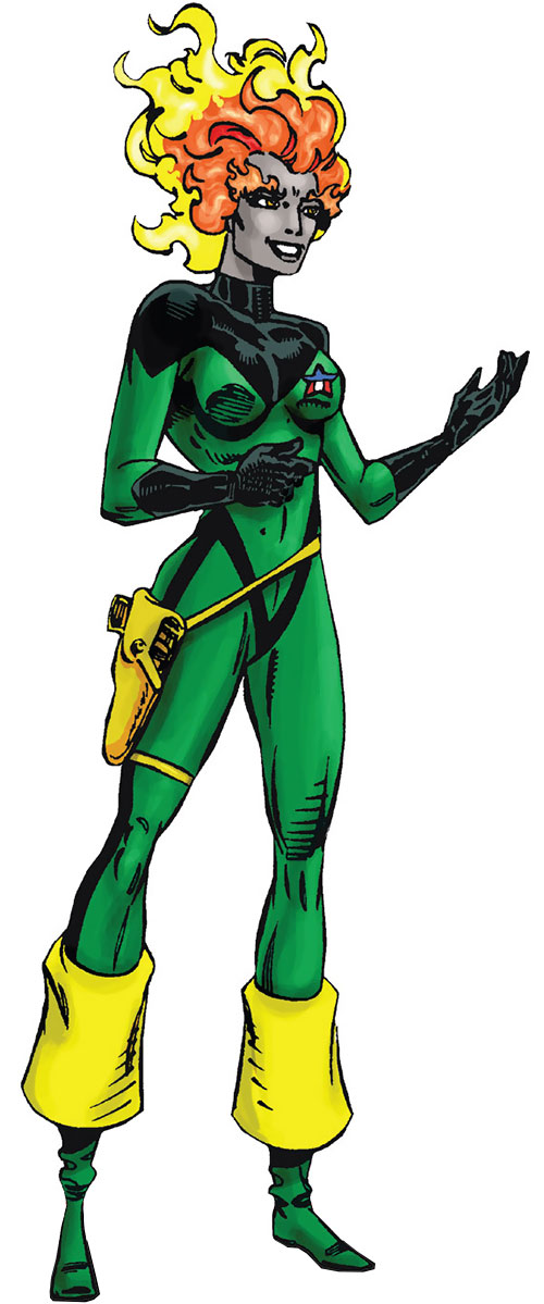 Nikki (Guardians of the Galaxy) (Marvel Comics) with the green and black uniform