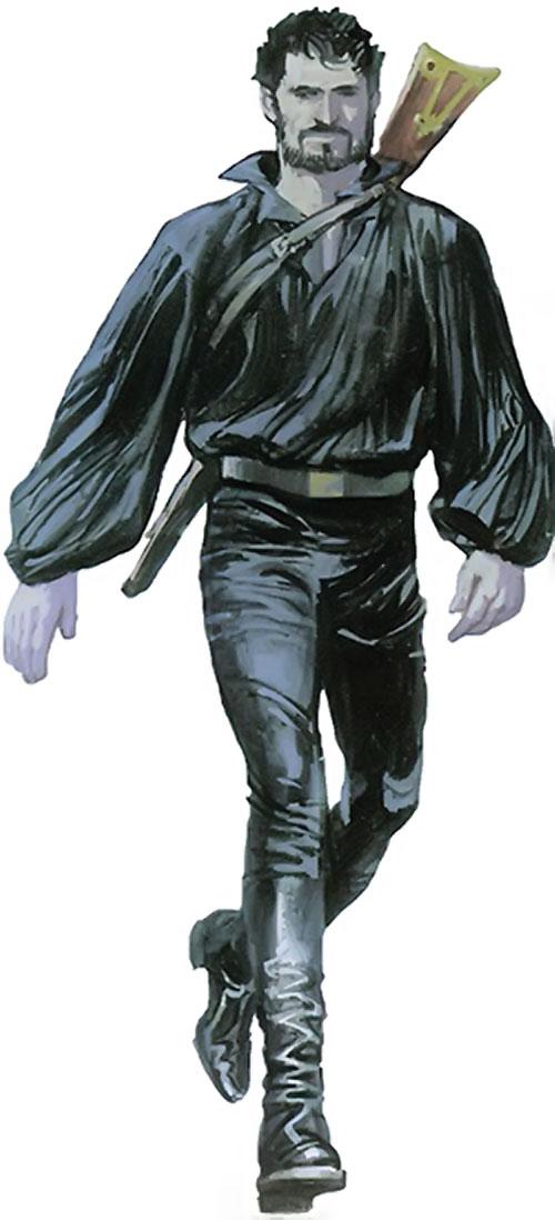 Nikolai Dante (2000AD comics) in black
