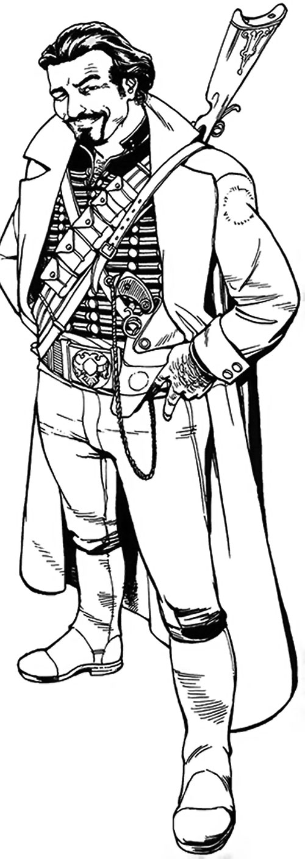 Nikolai Dante (2000AD comics) B&W line art