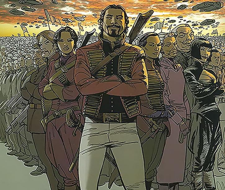 Nikolai Dante with allies and an army