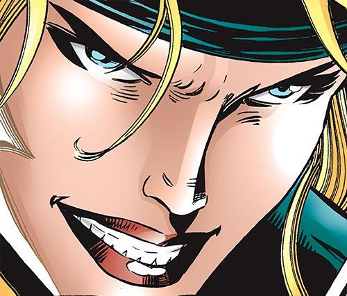 Nina McCabe (Elektra enemy) (Marvel Comics) face closeup