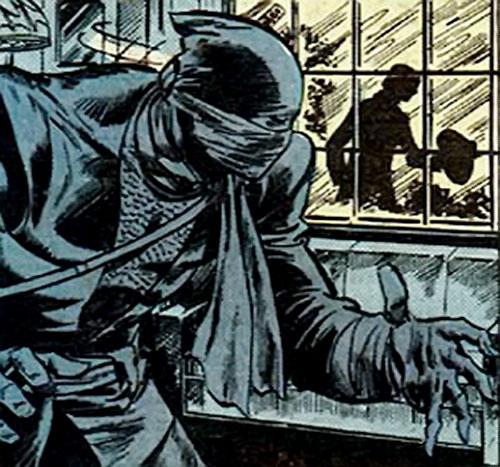The Ninja (Iron Fist enemy) (Marvel Comics) sneaks around