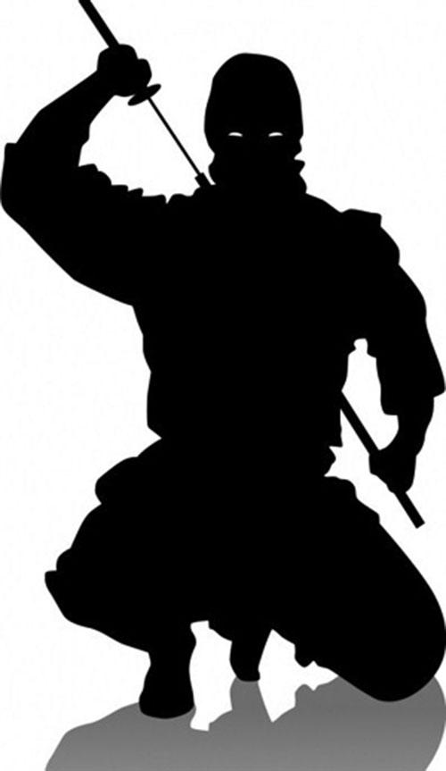 Stock ninja silhouette