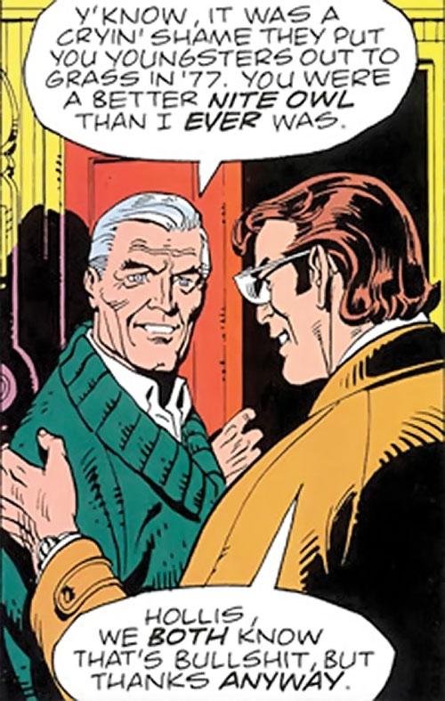 Nite Owl of the Minutemen (Watchmen DC Comics) with Daniel