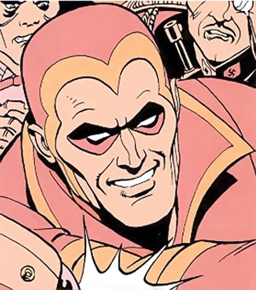 Nite Owl of the Minutemen (Watchmen DC Comics) dream sequence face closeup