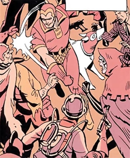 Nite Owl of the Minutemen (Watchmen DC Comics) dream fight with Phantom